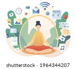dome filter protects woman from ... | Shutterstock .eps vector #1964344207
