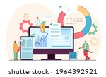 tiny programmers in analysis...   Shutterstock .eps vector #1964392921