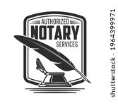 notary or legal service icon...   Shutterstock .eps vector #1964399971