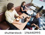 high angle view of male and... | Shutterstock . vector #196440995