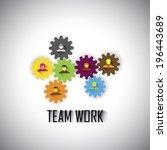 team   teamwork of corporate...