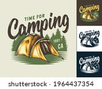 camping tent for  t shirt print ...   Shutterstock .eps vector #1964437354