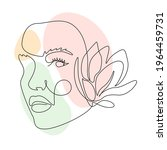 Woman Face With Magnolia Flower ...