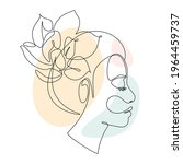 Woman Face With Lotus Flower In ...