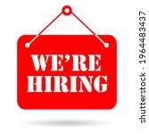 we are hiring now vector...   Shutterstock .eps vector #1964483437