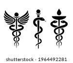 caduceus medical snake vector...   Shutterstock .eps vector #1964492281