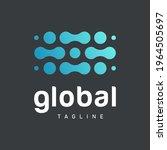 abstract global blue logo... | Shutterstock .eps vector #1964505697