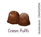chocolates and mini cream puffs ... | Shutterstock .eps vector #1964524534