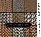 seamless line graphic black... | Shutterstock .eps vector #1964525977