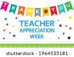 teacher appreciation week...   Shutterstock .eps vector #1964535181
