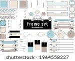 3 color title design frame set | Shutterstock .eps vector #1964558227