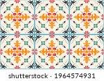 ikat geometric folklore...   Shutterstock .eps vector #1964574931