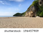 Mountain And Beach Landscape...