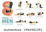 infographic 8 yoga poses for... | Shutterstock .eps vector #1964581291