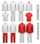 the set of various work clothes.... | Shutterstock . vector #196458215