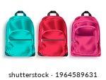 school bag vector set. school... | Shutterstock .eps vector #1964589631