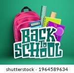 back to school vector concept... | Shutterstock .eps vector #1964589634