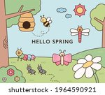 cute insects live in the... | Shutterstock .eps vector #1964590921
