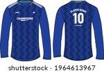 long sleeve football jersey t... | Shutterstock .eps vector #1964613967
