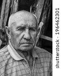 portrait of a sad old man | Shutterstock . vector #196462301
