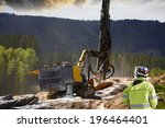 surveyor measuring rock... | Shutterstock . vector #196464401