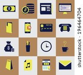 concept icons set of business...
