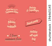 awesome summer vector  vintage... | Shutterstock .eps vector #196465145