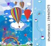 balloons. children's...   Shutterstock .eps vector #196465475