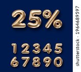 set of 3d golden numbers on... | Shutterstock .eps vector #1964689597