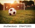 soccer sunset   football in the ... | Shutterstock . vector #196471001