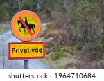 Swedish Road Sign In A Small...