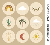 aesthetic icon set for... | Shutterstock .eps vector #1964721907