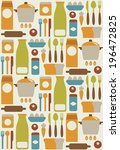 seamless kitchen pattern design.... | Shutterstock .eps vector #196472825