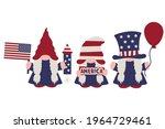 july 4th gnome girls  american... | Shutterstock .eps vector #1964729461