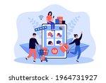 tiny customers buying goods in... | Shutterstock .eps vector #1964731927