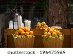 outdoor market with orange in... | Shutterstock . vector #196475969