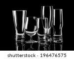 group of empty glasses... | Shutterstock . vector #196476575