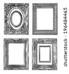 antique frame on the white... | Shutterstock . vector #196484465