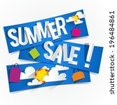 summer sale background with... | Shutterstock .eps vector #196484861