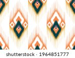 ikat ethnic indian seamless...   Shutterstock .eps vector #1964851777