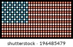 american flag  made of led... | Shutterstock . vector #196485479