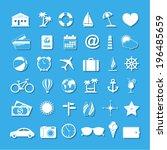 travel icons | Shutterstock .eps vector #196485659