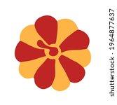 ripe pumpkin. vector simple... | Shutterstock .eps vector #1964877637