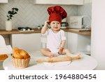 A Small Beautiful Child Dressed ...