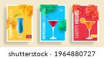 summer sale posters with promo... | Shutterstock .eps vector #1964880727