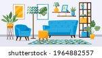 cartoon living room interior.... | Shutterstock .eps vector #1964882557