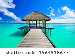 Relaxing massage in a bungalow in the Maldives. Massage in the bungalow. Massage in the Maldives