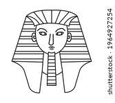 line art  black color pharaohs... | Shutterstock .eps vector #1964927254