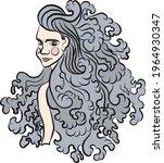 virgo of astrology design... | Shutterstock .eps vector #1964930347