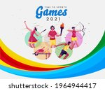 time to sport games 2021 poster ...   Shutterstock .eps vector #1964944417